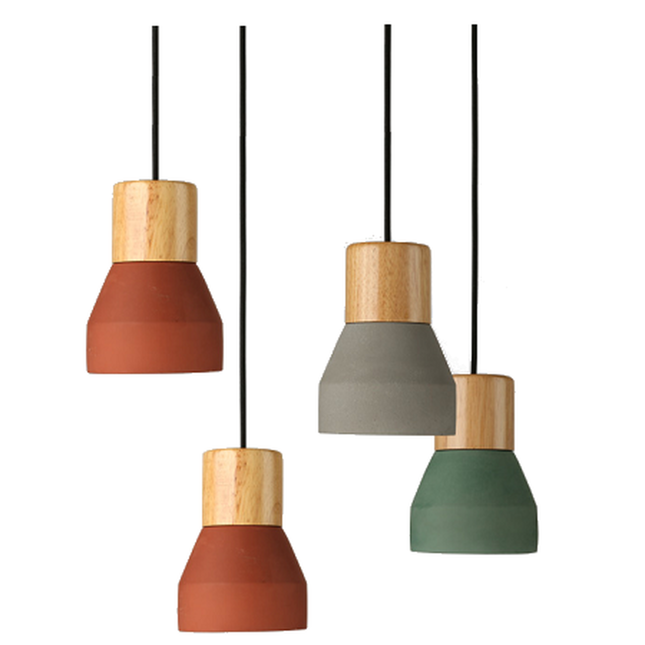 Replica Specimen Cement Wood Pendant Light